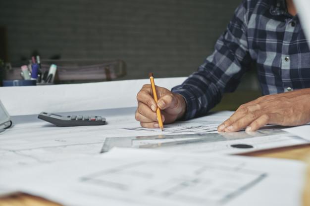 Proyecto inmobliario de arquitectura de planos
